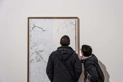 8+1 – Emanuele Becheri - spider webs on adhesive paper,  100x140cm – 2010 – courtesy l'artista