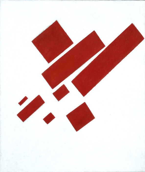 Kazimir Malevich, Suprematist Composition (with eight red rectangles), 1915 – Collection SMA