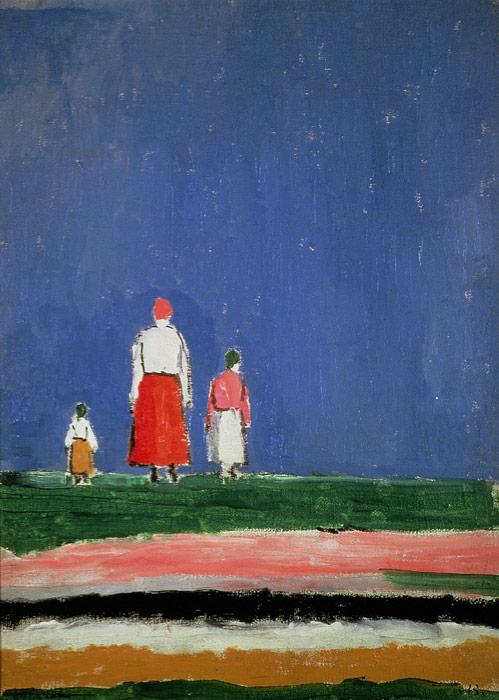 Kazimir Malevich, Three Figures, 1928 – Collection V. A. Dudakov