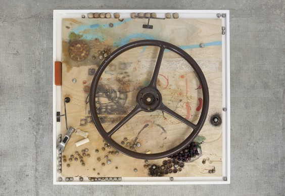 URI ARAN, GAME II, 2014. VARIABLE SIZE, 2 PARTS: MIXED MEDIA, 68X87X67 CM IMAGES COURTESY OF PEEP-HOLE, MILAN. PHOTO BY FRANCESCA VERGA