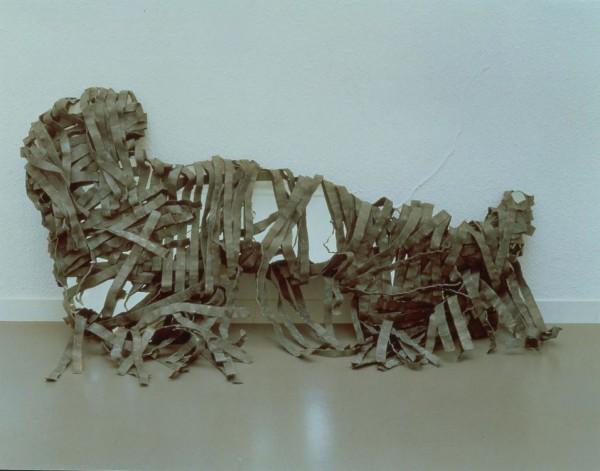 Luciano Fabro, Speculum Italiae (Specchio d'Italia), 1971 specchio, piombo, legno 3 elementi, Collezione Margherita Stein Proprietà Fondazione CRT Progetto Arte Moderna e Contemporanea, 2001 Deposito permanente Castello di Rivoli Museo d'Ar