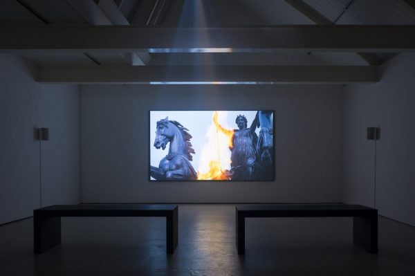 Jessica Warboys, Boudica 2014 35mm transfer to HD, sound installation view: Outpost, UK (2014) courtesy the artist and Outpost, UK